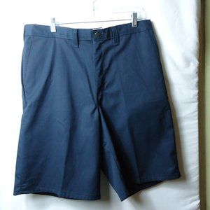 NWT Dickies Navy Blue Flat Front Work Shorts 36